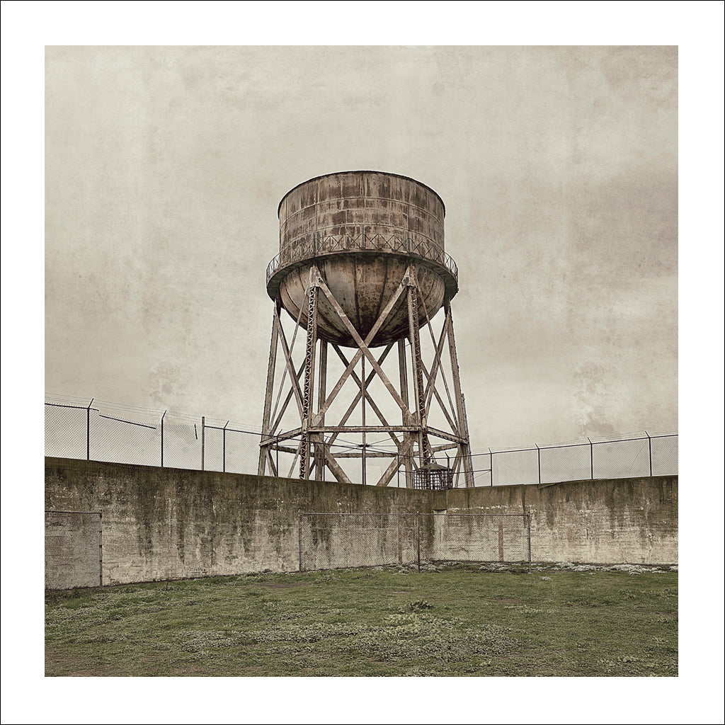 Alcatraz # 3, Water Tower, San Francisco Bay, California, 2009 | Limited Edition Archival Photograph | © 2007-2016 Richard Johnson Photography Inc. | richardjohnsongallery.com