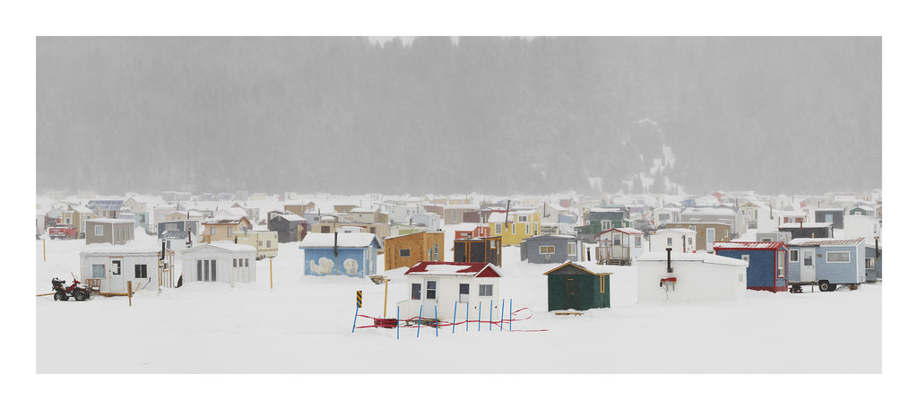 Ice Village # 55 - Triptych | La Baie Des Ha! Ha!, Saguenay River, Quebec, Canada, 2014 | © 2007-2016 Richard Johnson Photography Inc. | richardjohnsongallery.com
