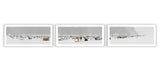Ice Village # 55 - Triptych | La Baie Des Ha! Ha!, Saguenay River, Quebec, Canada, 2014 | Limited Edition Archival Photograph | © 2007-2016 Richard Johnson Photography Inc. | richardjohnsongallery.com