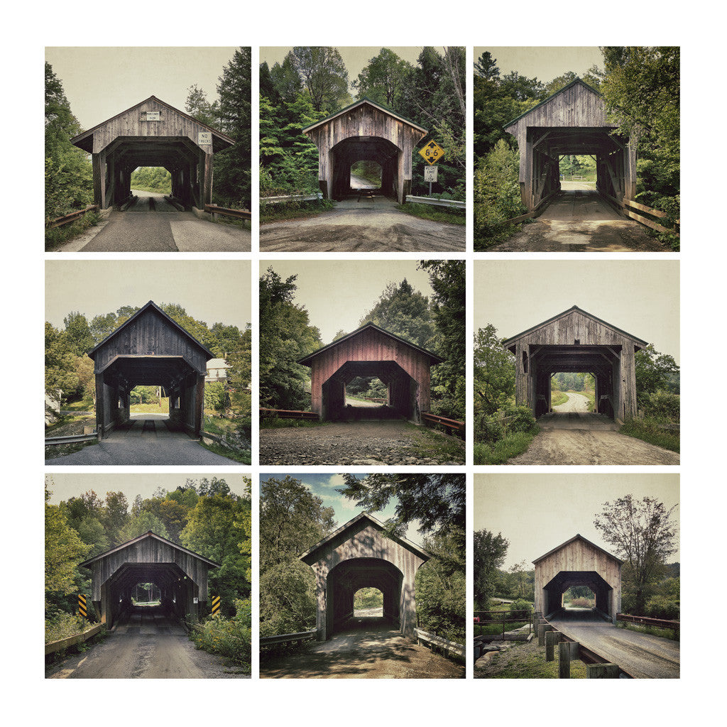 Portals # 1, Covered Bridge #04,#11,#13 | #20,#10,#05 | #17,#12,#16, Vermont, USA, 2012 | Limited Edition Archival Photograph | © 2007-2016 Richard Johnson Photography Inc. | richardjohnsongallery.com