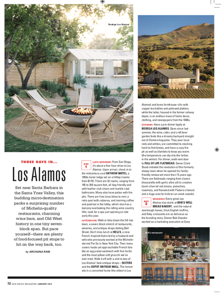 San Diego Magazine - Los Alamos January 2019