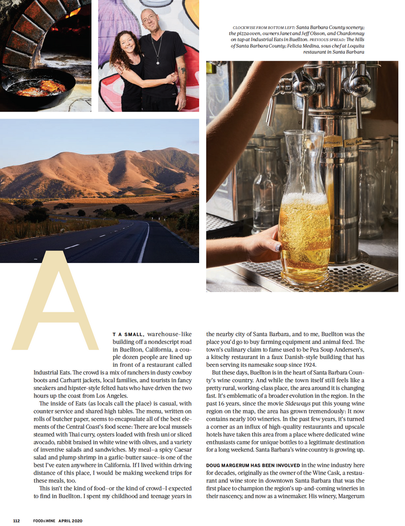 Food & Wine April 2020 - Bobs Well Bread Bakery page 3