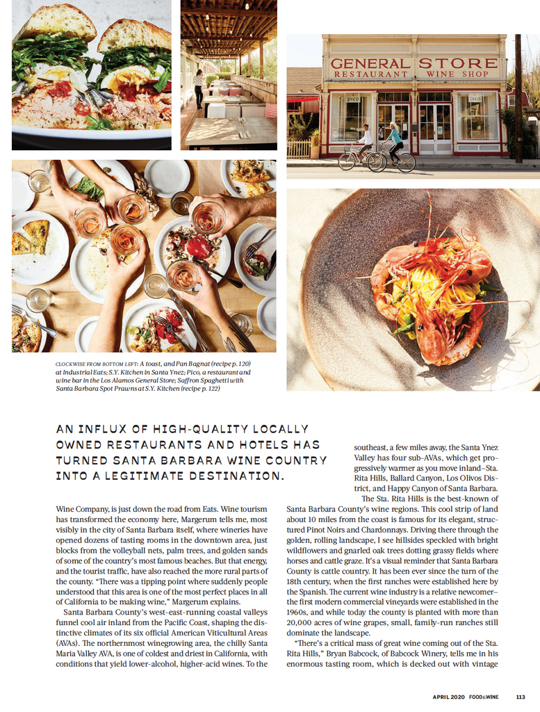 Food & Wine April 2020 - Bobs Well Bread Bakery page 4