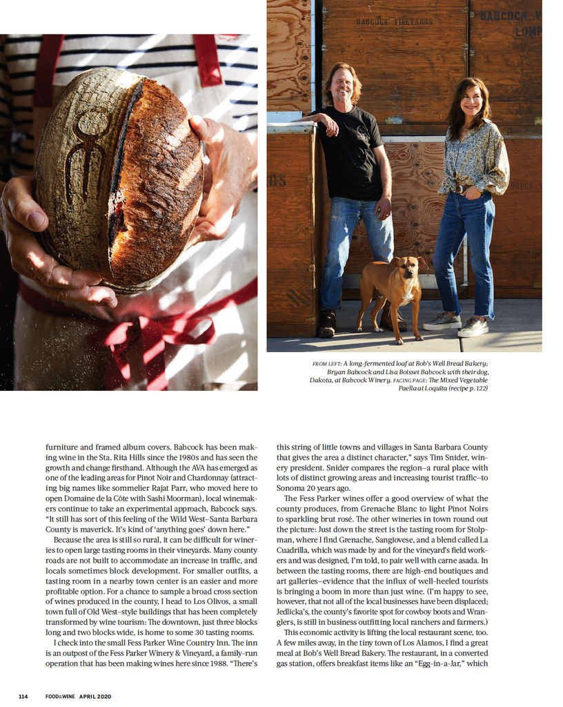 Food & Wine April 2020 - Bobs Well Bread Bakery page 5