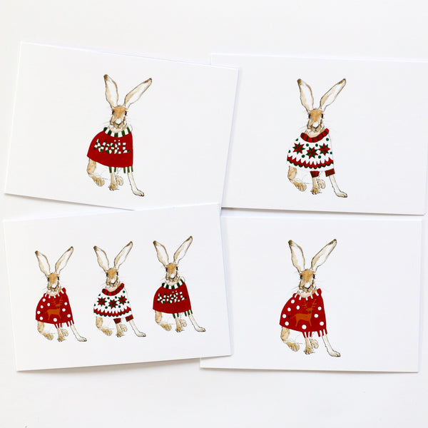 Christmas cards (pack of four)
