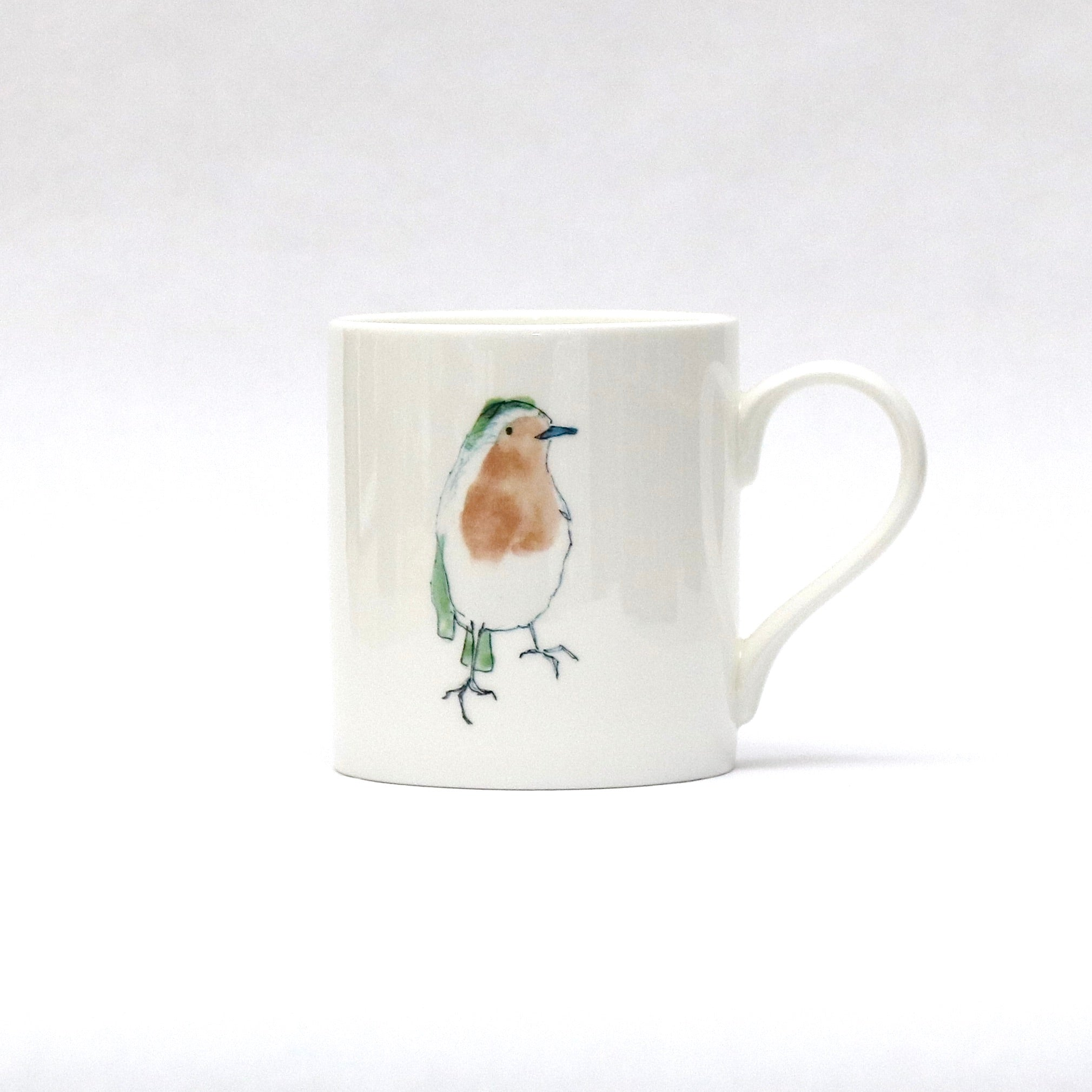 Christmas robin mug (large robins)