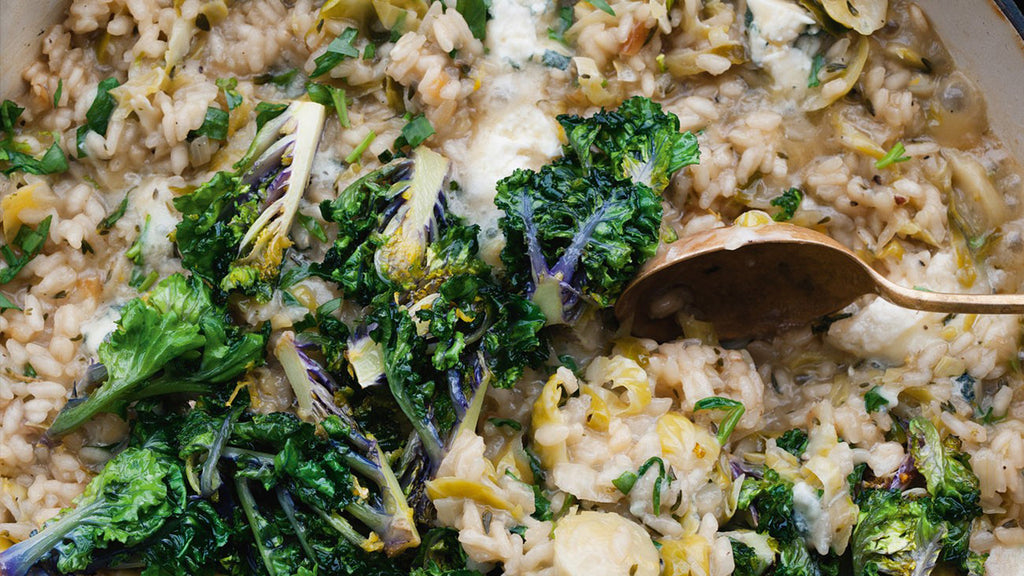 Brussels Sprout Risotto with Dolcelatte