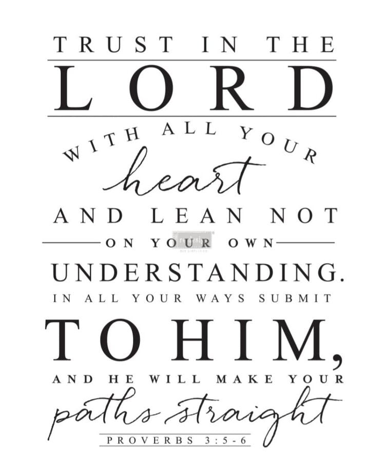 Trust in the Lord Transfer