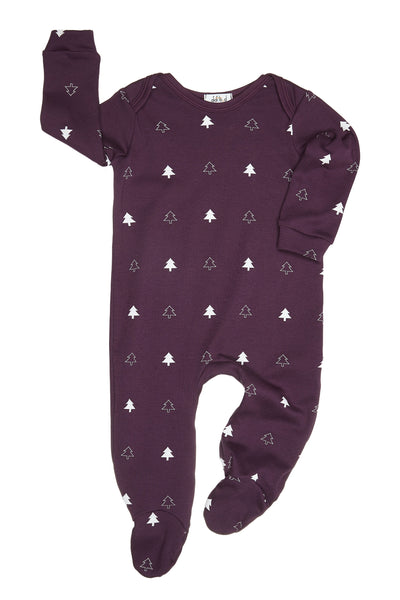 Mulled Winter Trees Sleep Suit