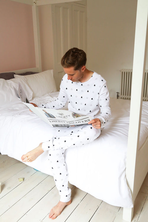 White Winter Trees - Gentleman's / Ladies Looser fitting Pyjamas **50% off**