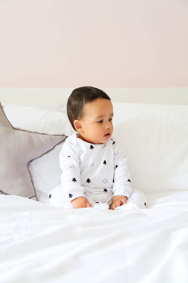 White Winter Trees Sleep Suit **50% off**