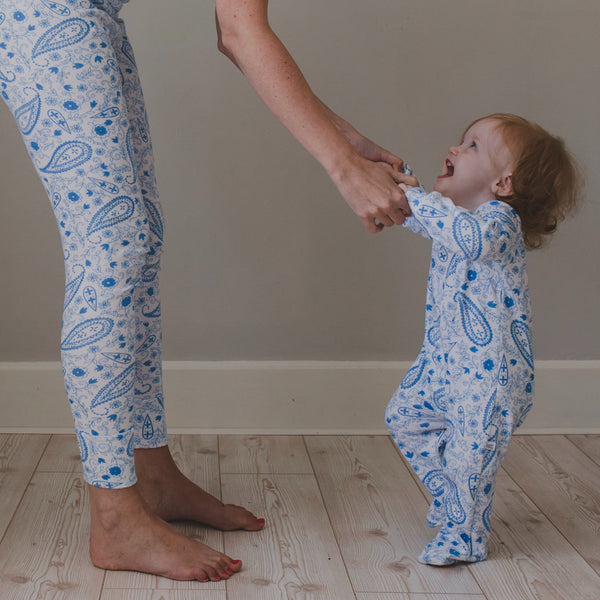 Paisley Blue Sleepsuits **50% off**