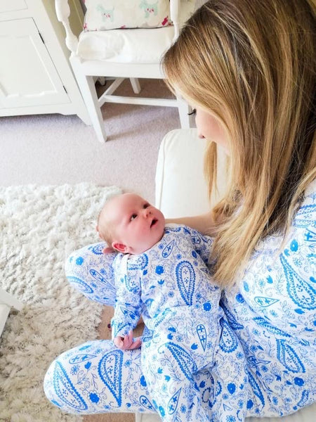Paisley Blue Sleepsuits **30% OFF*