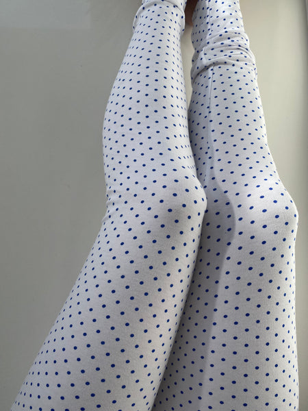 Ladies Leggings - Navy Spot