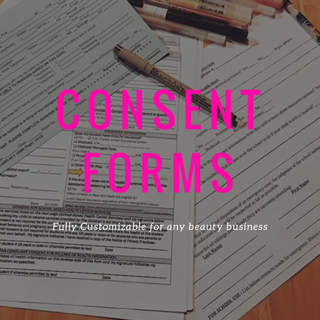 Consent Forms/Rental Agreement Forms (Lash/Microblading/Beauty-General)