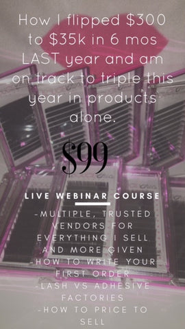 Lash Branding Webinar Course  (Read Below)