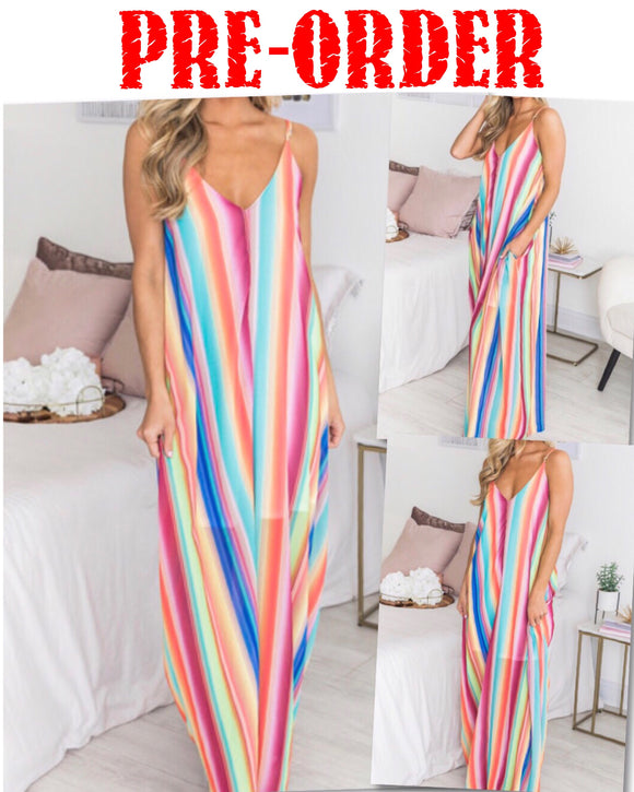 Summer Getaway Maxi Dress w/Pockets