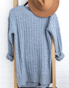 Chic Popcorn Tunic Top - Cement