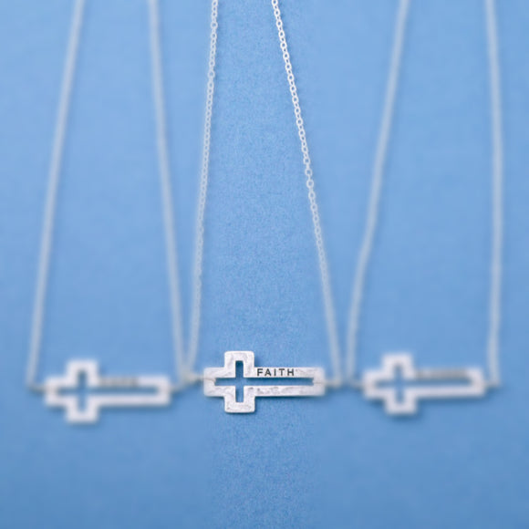 FAITH Cross Necklace + FREE SHIPPING