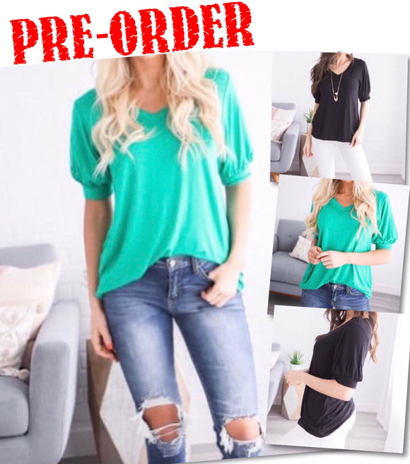 Maci Bubble Sleeve Top
