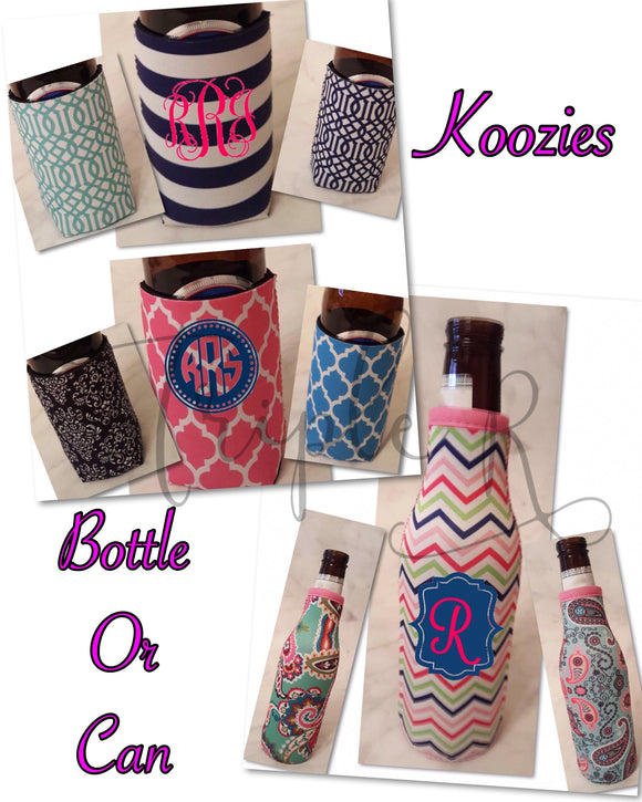Pattern Koozies - Bottle & Can - Plain