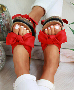 Karen Slide Sandals - Red
