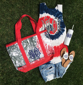 Red, White, & Blue Tie Dye Tanks