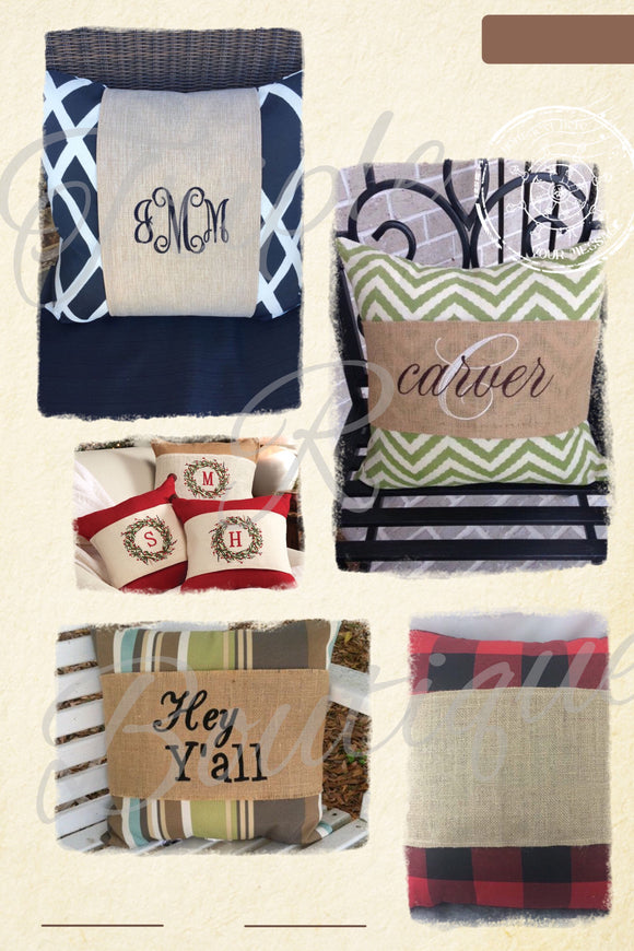 Burlap Pillow Wraps