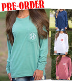 Long Sleeve Pocket Tees + FREE SHIPPING