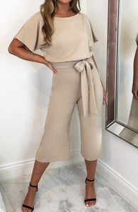 It's In The Details Jumpsuit - Tan