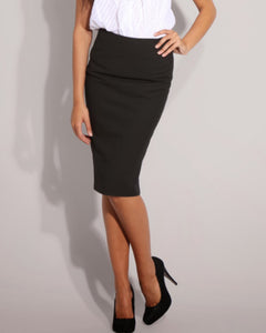 Solid Pencil Skirts - Black