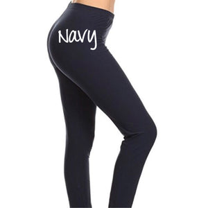 Buttery Soft Basic Solid Leggings - Navy