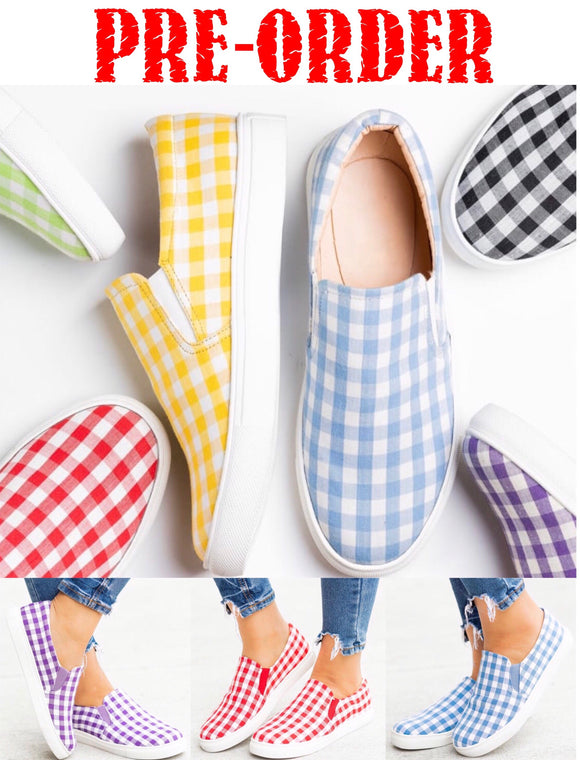 Checkered Slip-On Sneakers