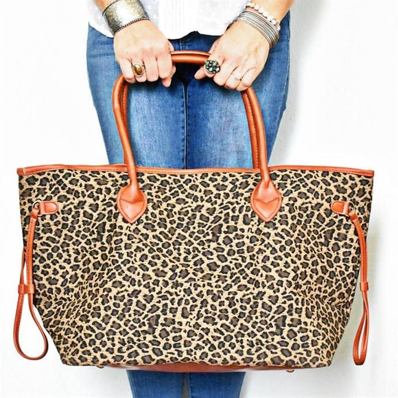 Leopard Print Tote Bags