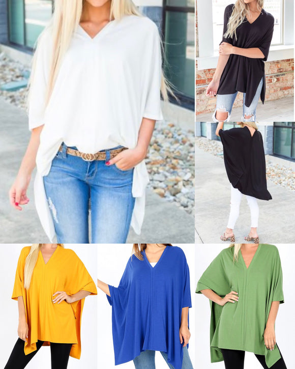 Kendal V-Neck Tunics + FREE SHIPPING