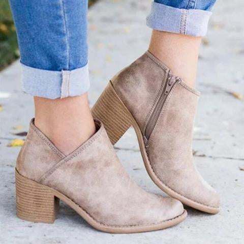 Traci's Slip-On Booties - Khaki