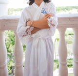 Lace Trim Robe - YOUTH