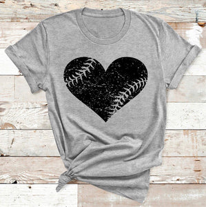 Grunge Heart Baseball/Softball GRAPHIC TEE