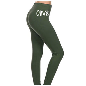 Buttery Soft Basic Solid Leggings - Olive