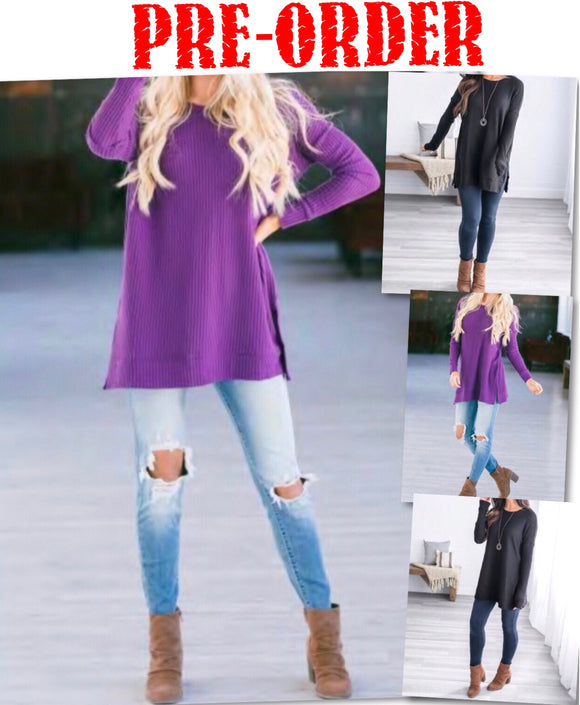 Remi Round Neck Tunic Sweater
