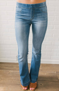 Must Have Flare Jeggings - Denim