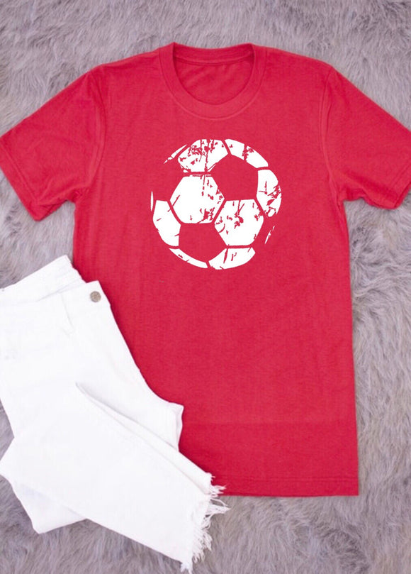 Grunge Soccer Ball HEAT TRANSFER