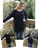 Long Sleeve Oversized Tunic Top
