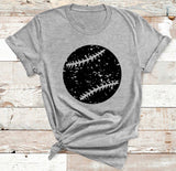 Grunge Baseball/Softball GRAPHIC TEE