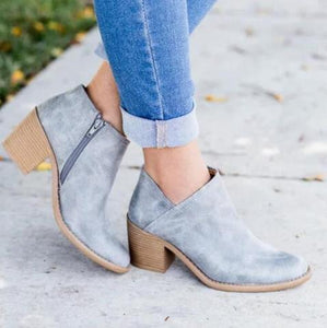 Traci's Slip-On Booties - Blue/Grey