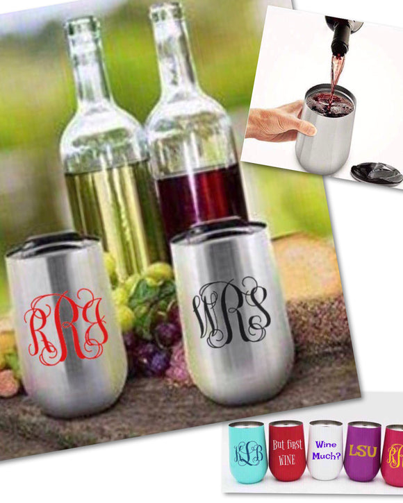 18oz Double Walled Stainless Tumblers w/Lid - Plain