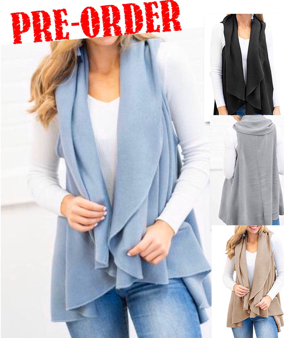 Outfit Enhancer Open Front Sleeveless Cardigans + FREE SHIPPING