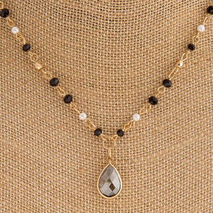 Teardrop Beaded Necklace + FREE SHIPPING