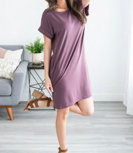 Spring Princess Midi Dress w/Pockets - Eggplant