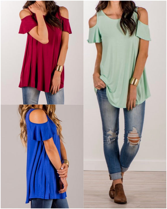 Cold Shoulders Tunic